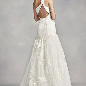 66 off vera wang dresses white by one shoulder lace wedding dress vera wang dresses white by vera wang one shoulder lace wedding dress junglespirit Gallery
